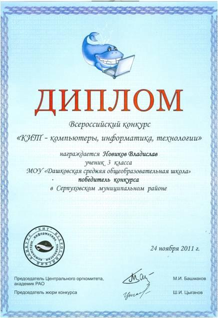Итоги Всероссийского конкурса КИТ компьютеры информатика  Запись опубликована